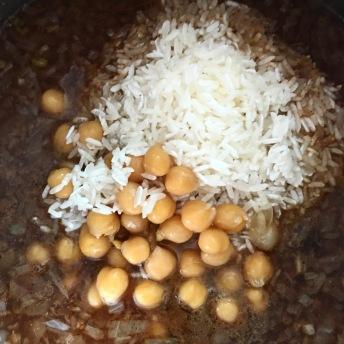 Cinnamon chickpea rice-preparation