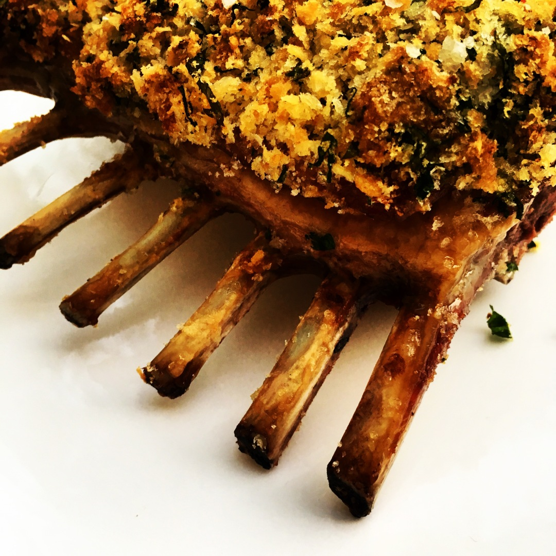 frenched herb crusted rack of lamb