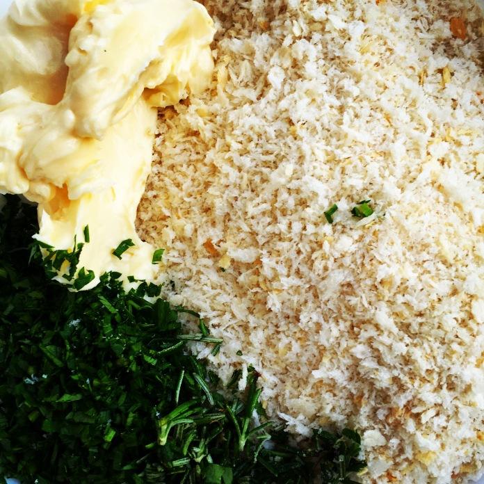 panko parsley rosemary butter garlic