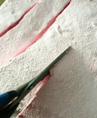 Pink marshmallows-scissor cuts 2