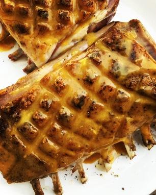 rack o lamb honey mustard glaze