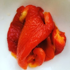 Roasted red peppers capsicum