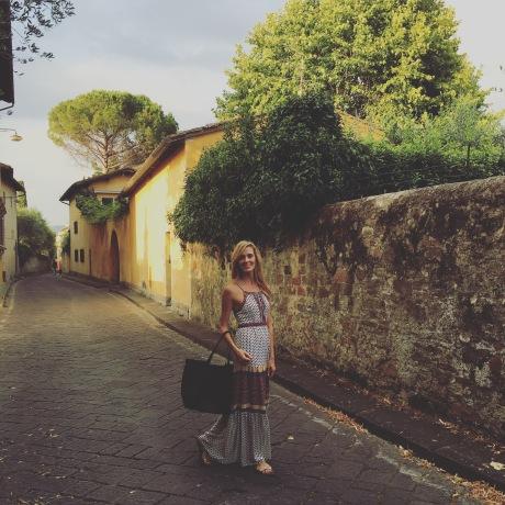 Happy lidija in tuscany
