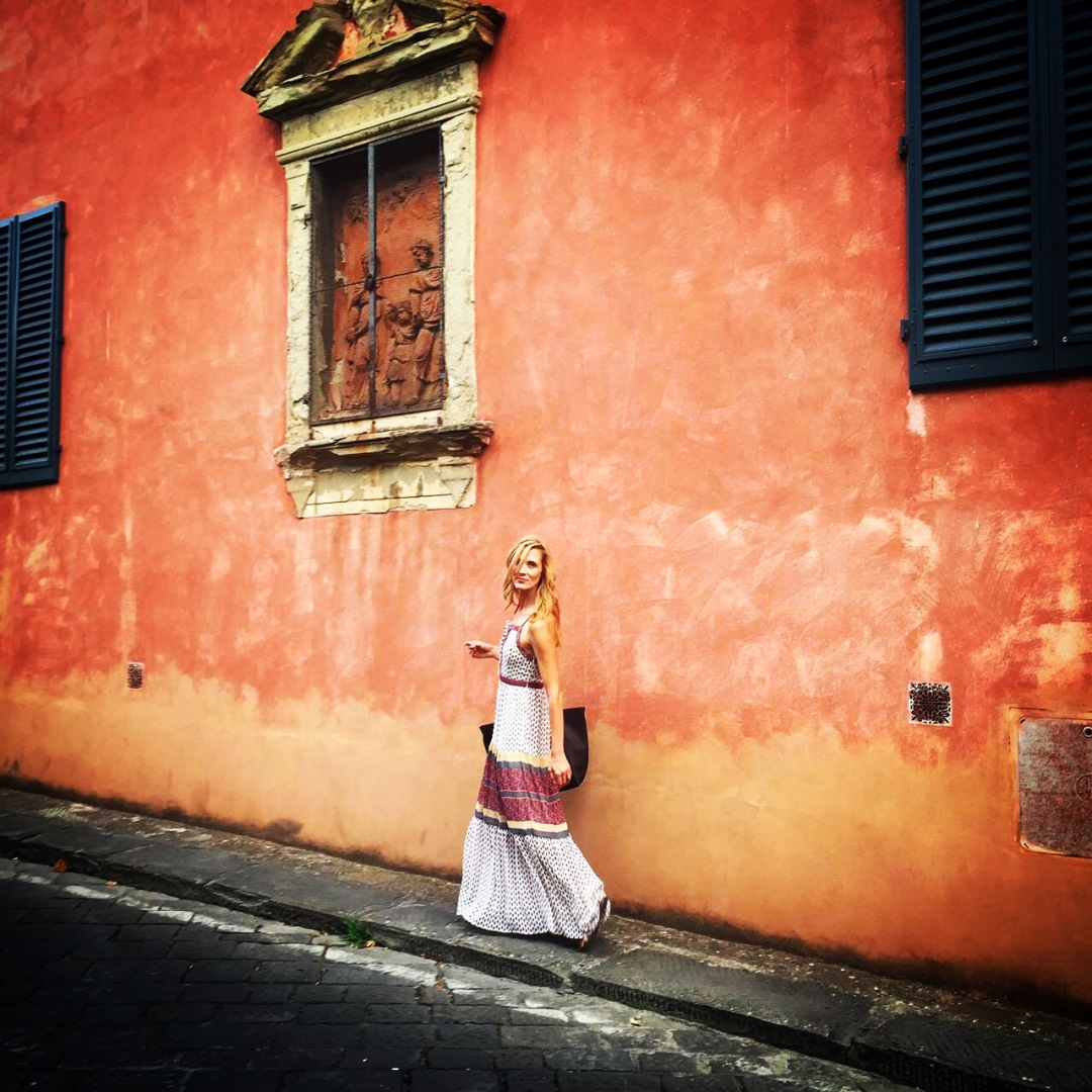 Walking in Florence on my birthday