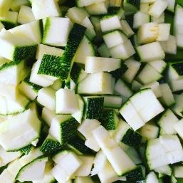 zucchini courgette cubes