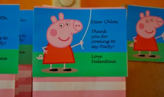 peppa pig card party bag