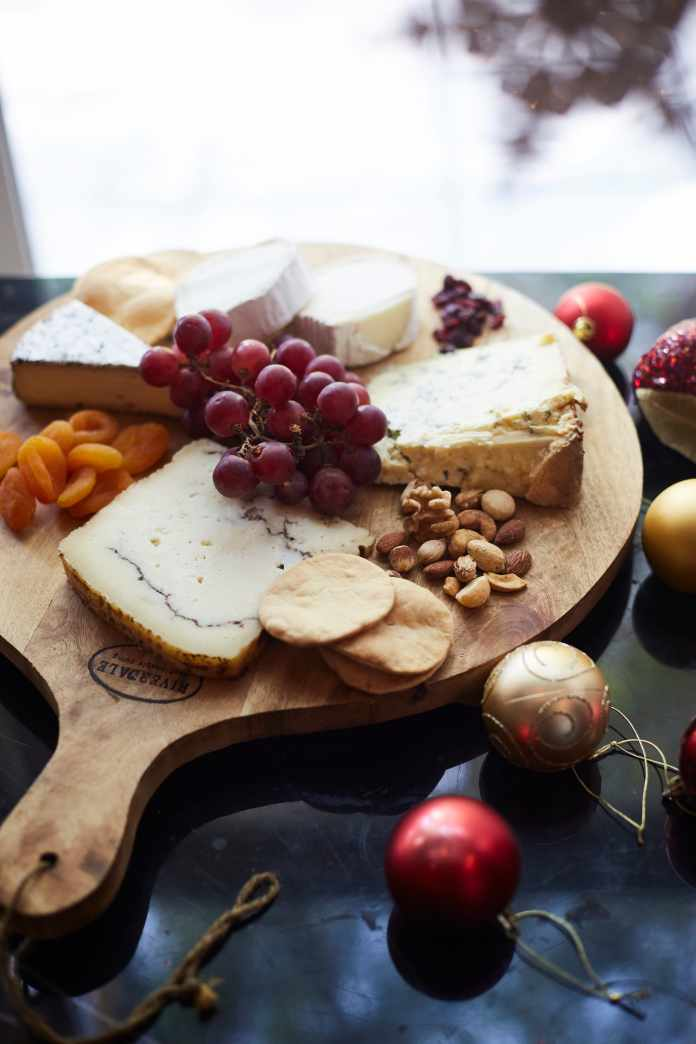 cheese platter pic version 2 with christmas ornaments.jpg