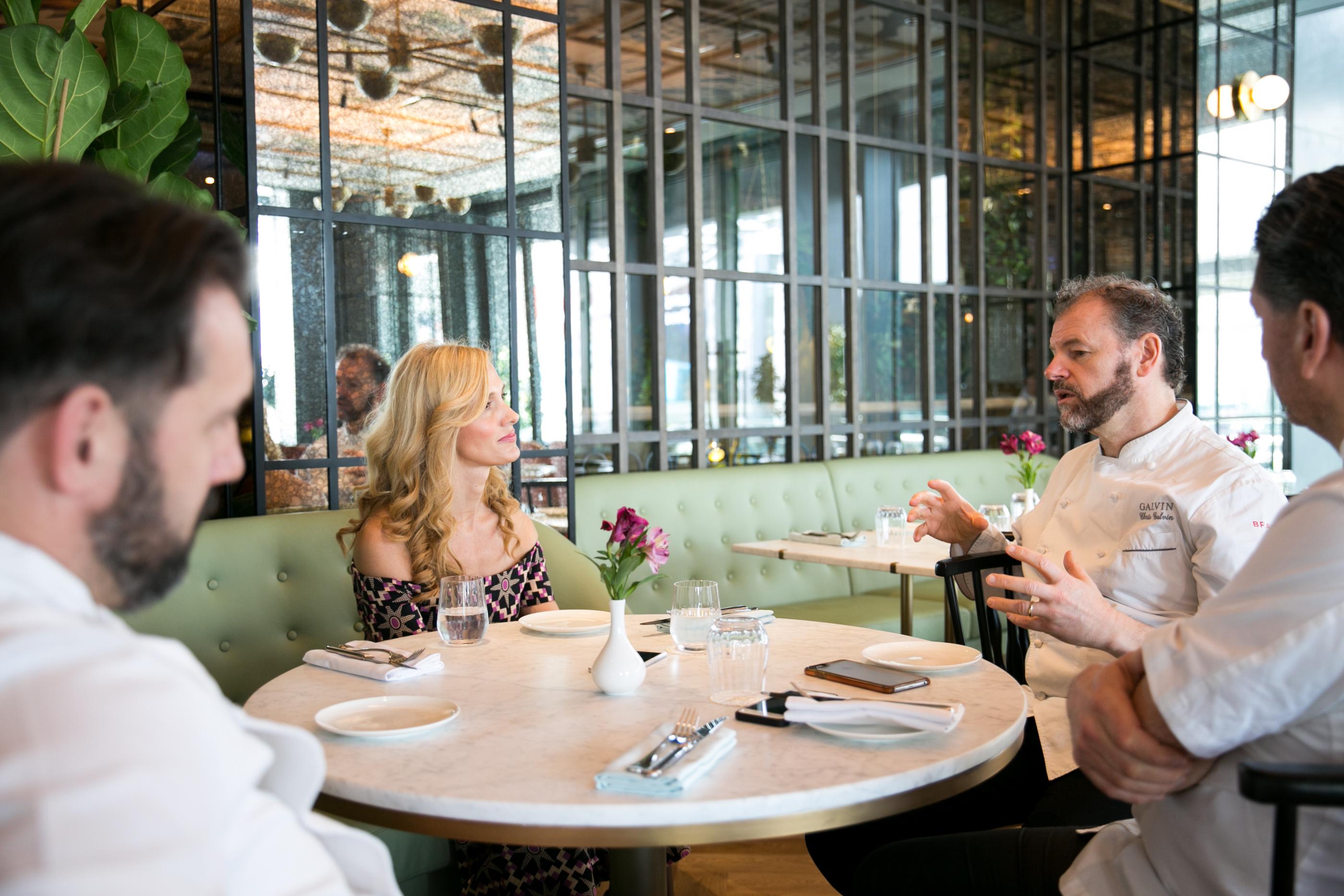 Lidija in conversation with the Galvi brothers Demoiselle DXB.jpg