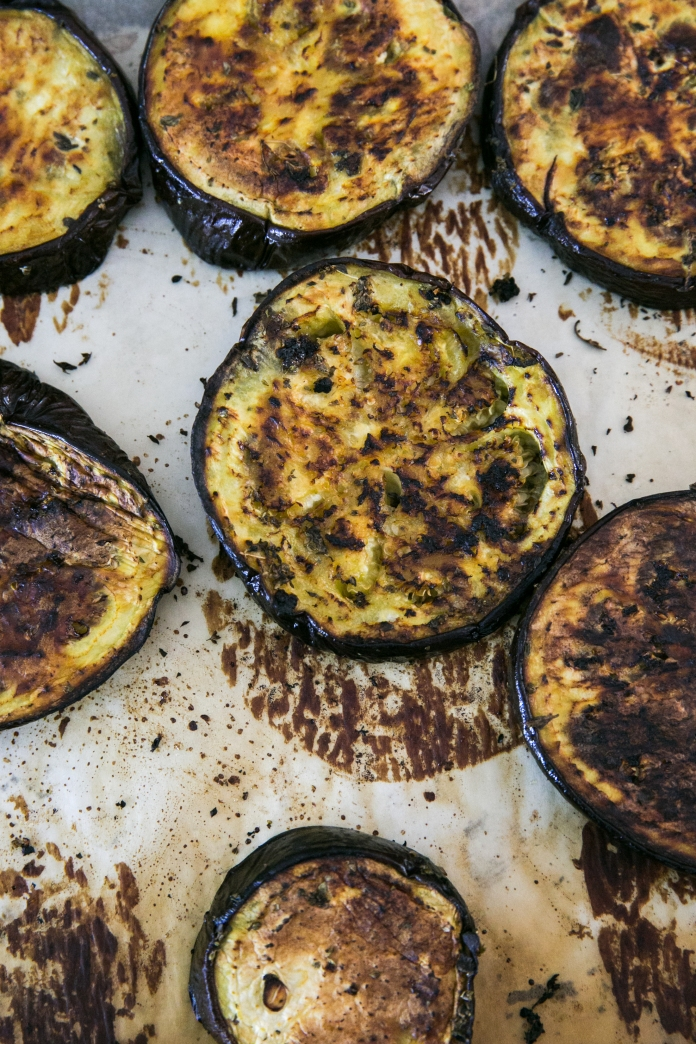 oven roasted eggplant slices