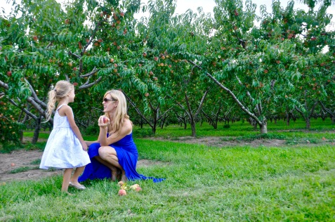 mother daughter in a peach orchard niagara-on-the-lake part two