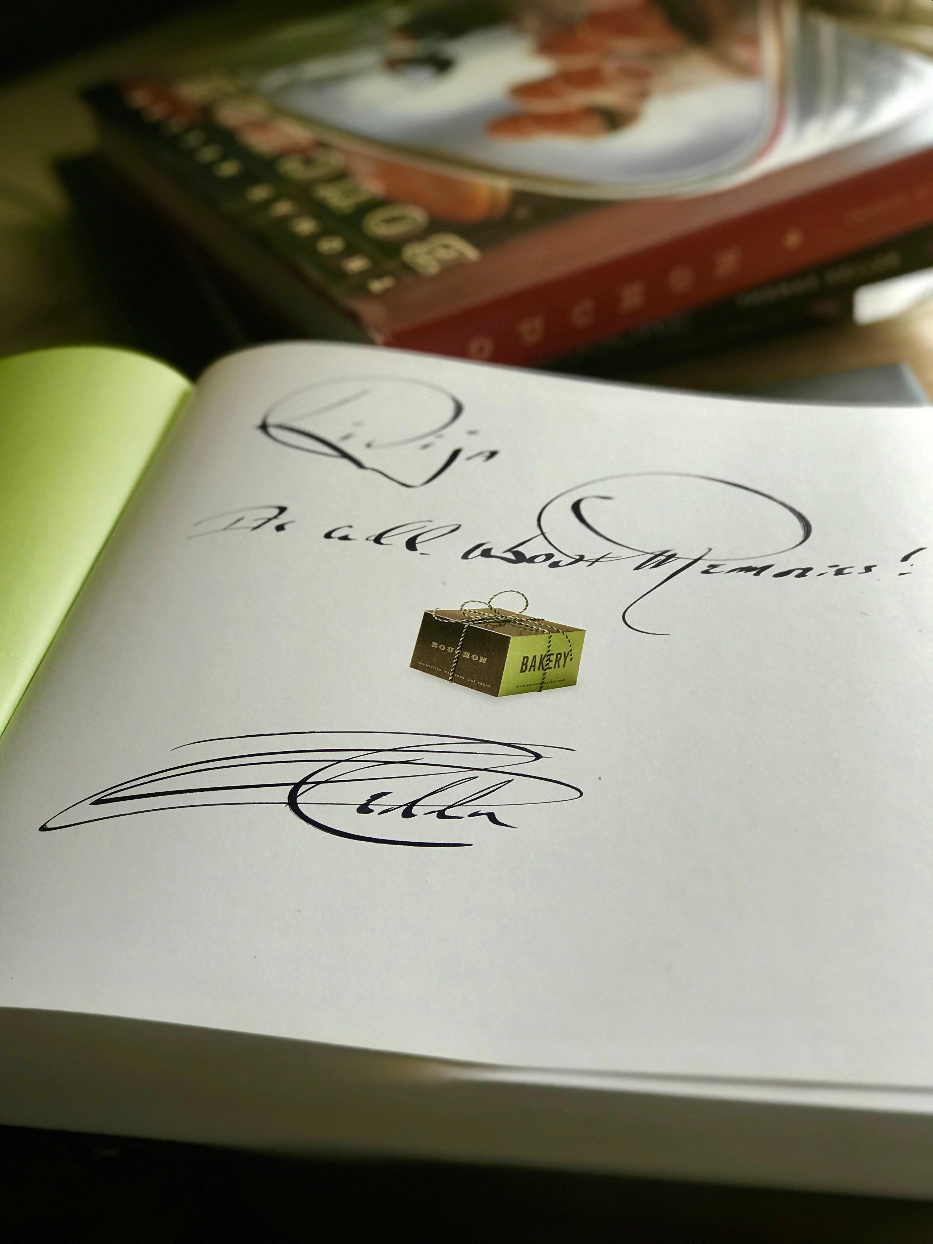 Thomas Keller book signing